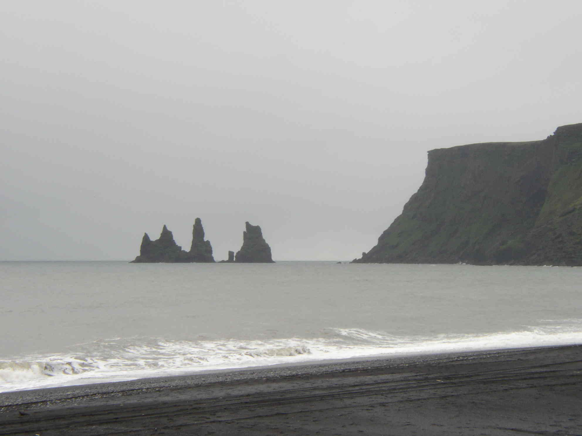 Rock formations off the coast of Vik, Iceland